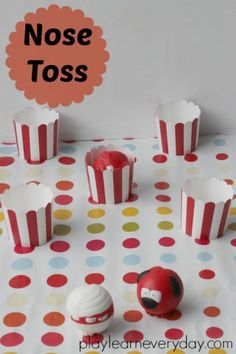 Ten fun and easy to set up games for kids to play to help raise money on Red Nose Day for Comic Relief. Childcare Activities, Fundraising Activities, Craft Activities For Kids, Crafts For Kids, Red Nose Day Cakes, Family Fun Day, Photo Booth Frame, How To Raise Money, Games For Kids
