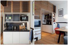 studio tasseaux de bois Divider, Service, Room, Studios, Garage, Furniture, Mini, Home Decor, Studio Apartments