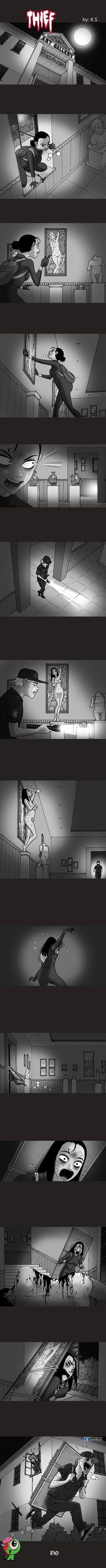 Silent Horror Silent Horror Comics, Scary Comics, Creepy Stories, Horror Stories, Jeepers Creepers, Lesbian Love, Pin Up Art, Manga Drawing, Horror Art