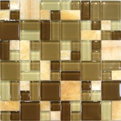 1SF Honey Onyx Crackle Matte /& Polish Glass Mosaic Kitchen Backsplash spa Wall