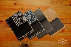 Leather cover for 3 notebooks