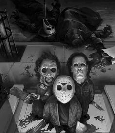 I had hoped to have a horror or Halloween-related post ready to for today, as usual. But, a little surprise changed our weekend plans,. Horror Movie Characters, Horror Movies, Horror Villains, Lapin Art, Horror Artwork, Funny Horror, Real Horror, Scary Funny, Horror Icons