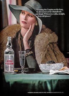 Wyborowa Vodka Advertisement - Gourmet: January 1976