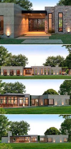 Casa La Macarena de 220 m2 estilo Moderno en Gran Buenos Aires, del estudio de arquitectura Estudio NF y Asociados de la arquitecta Nadina Fabijanic  #casasmodernas #casas #arquitectura #argentina #portaldearquitectos
