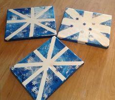 Easy Winter Snowflake Canvas Art