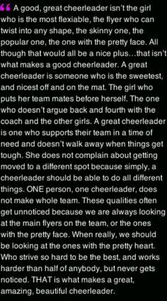 cheerleading tryout essay