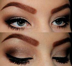 Maquiagem para olhos pequenos - Noite
