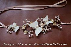 Bridal Sash Belt  Butterfly Wedding Sash Belt  golden