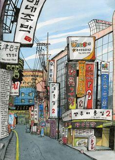 Illustration by Tommy Kane – Seoul