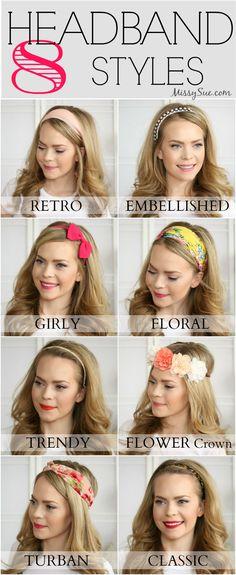 8 Headband Styles   MissySue.com