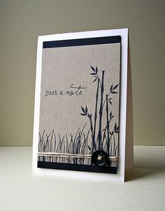 great combo of white, kraft and black. could use this for a sympathy card as well.