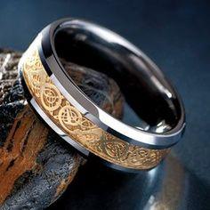 Stauer Draco Tungsten Men's Ring