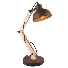 This table lamp made from metal and wood can be used both as a desk lamp or a bedside table lamp. Read more about this beautiful piece at Lights.co.uk.