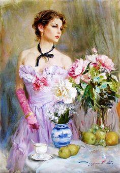 Glamorous Painting by Konstantin Razumov. #painting #impressionism #konstantinrazumov