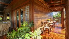 Taking inspiration from old Boholano houses, the owners maximized a lot by building a rustic Filipino retreat that highlights a splendid view and local materials Old House Design, Bamboo House Design, Tropical House Design, Bungalow House Design, Tiny Beach House, Tropical Beach Houses, Beach House Decor, Rustic Beach Houses, Modern Filipino House