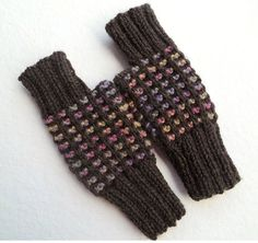 FREE SHIPPING Knit Fingerless Gloves in BrownKnit by Need4KnitShop