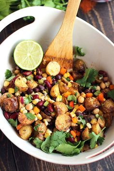 Tex-Mex Three Bean Potato Salad - ilovevegan.com