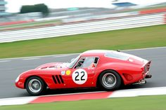 Nick Mason's 1962 Ferrari 250 GTO (s/n 3757GT) finished 3rd overall at the 1962 Le Mans 24 Hours Test Day Silverstone 2013