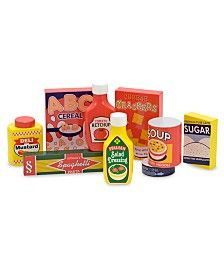 Melissa and Doug Toy, Wooden Pantry Products Set