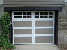 Image of: paint fiberglass garage doors