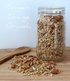 THE SIMPLE VEGANISTA: Ginger-Orange Granola