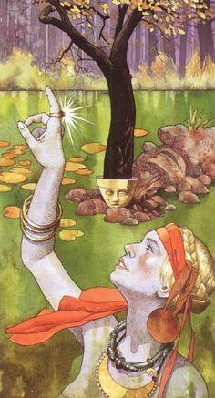 """Magnifique tarot, duquel plusieurs arcanes sont illustrées sur ce site. Giacinto Gaudenzi: """"I tarocchi dei Celti"""""""