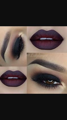 I want to create lips like these as they look mysterious and dark, her eye make up will be whacky but i want the lips to symbolize the darker side to Madame Milliners personality.