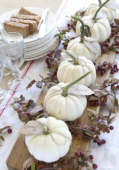 7 Gorgeous Thanksgiving Table Ideas from @alisonlewis