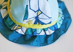 DIY- Scrappy Sun Hat from Running with Scissors via Living with Punks