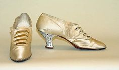 Shoes (Pumps). Date: 1920–27. Culture: American. Medium: silk, metal, leather, glass.