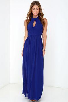 Ooh Gala-La Royal Blue Maxi Dress at Lulus.com!