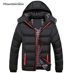 Cheap men winter jacket Buy Quality chaquetas plumas hombre directly from China men winter jacket Suppliers: Man Winter Jacket 2016 Warm Coat Thick Parka Chaquetas Plumas Hombre Men Coats Jackets Slim Fit Outwear Casual Clothing Mens Down Jacket, Jacket Men, Hooded Jacket, Hooded Coats, Hooded Parka, Puffer Vest, Casual Outfits, Men Casual, Dress Casual