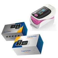 CE Pulse Oximeter Fingertip Finger Blood Oxygen SpO2 PR Heart Rate Monitor Pink