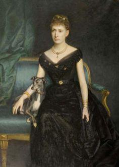 ⍕ Paintings of People & Pets ⍕ Harry von Hente | Marie Gräfin zu Münster, 1890