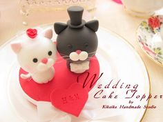 Wedding Cake Topper-love cat,love kitty by charles fukuyama, via Flickr