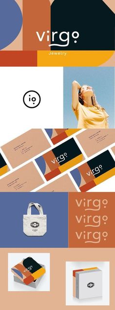 Branding and Creative Studio – Here + Now Creative Co. Virgo Jewelry brand and … – corporate branding identity Corporate Design, Corporate Identity Design, Brand Identity Design, Design Agency, Visual Identity, Design Brochure, Design Logo, Design Poster, Graphic Design Branding