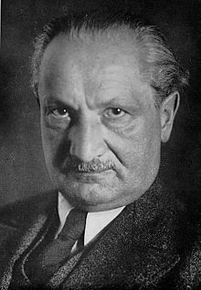 Martin Heidegger  b. 1889, d. 1976  A German philosopher known for his existential and phenomenological explorations of the 'question of Being'.