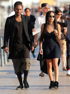 Zoe Kravitz and Mos Def shopping together along the Croisette during the 68th Cannes International Film Festival on May 17, 2015 in Cannes | Lainey Gossip Entertainment