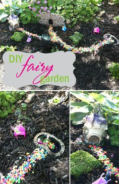"DIY Fairy Garden for kids  | Brought to you by BlogHer and Disney's ""The Pirate Fairy"", an all-new Tinker Bell movie on Blu-Ray and Digital HD April 1"