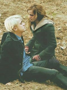 "I love how he's looking at her lips. Like she's so concerned that he's hurt and he's like ""damn hermione just kiss me."""
