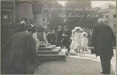 """The Romanov family attending a Mass Service in the Russian Church that was built in Bad Homburg, Germany in 1910.Tsar Nicholas II of Russia laid the cornerstone to the Church back in 1896. """"AL"""""""