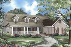 Country Style House Plan   3 Beds 2.5 Baths 2131 Sq/Ft Plan #17