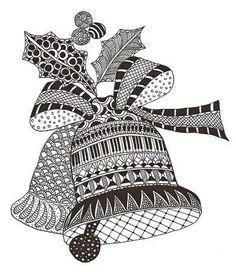 Zentangle made by Mariska den Boer 166 by Maria CS Cute Doodle Art, Doodle Art Designs, Doodle Art Drawing, Zentangle Drawings, Mandala Drawing, Zentangle Patterns, Zentangles, Crochet Patterns, Christmas Tree Zentangle