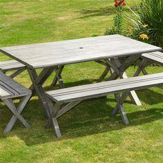 Luxury Leisure Driftwood 5 Piece Bench Set