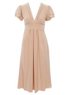 Schnittmuster: Kleid - Flügelärmel, V-Ausschnitt - Cocktailkleider - Kleider - Damen - burda style