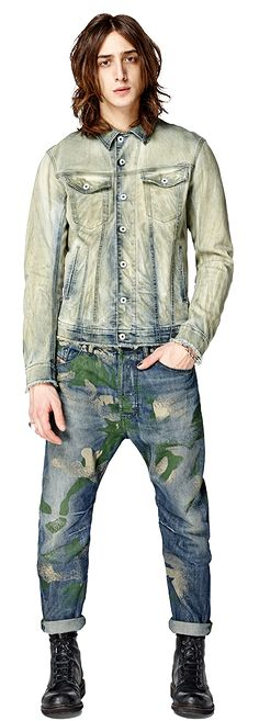 Diesel - Camo patterned jeans