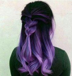 Vivid Hair Color, Cute Hair Colors, Pretty Hair Color, Beautiful Hair Color, Hair Color Purple, Hair Dye Colors, Hair Color For Black Hair, Purple Black Hair, Mint Green Hair