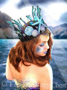 Mermaid Crown - Starfish and Seashells - Halloween Costume Accessory - CUSTOM ORDER. $75.00, via Etsy.