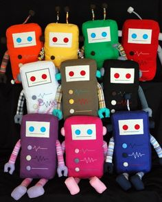 KAUZBOTS: Plush Robots with a Heart. 10% of the retail price of each robot is donated to the particular robot's kauze (cause).