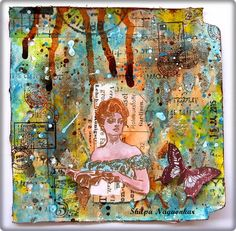 Neon Diary: Gibson girl - Journal page